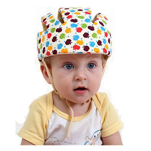 50e4cccd291 ELENKER Baby Children Infant Adjustable Safety Helmet Headguard Protective  Harnesses Cap Colorful ELENKER http