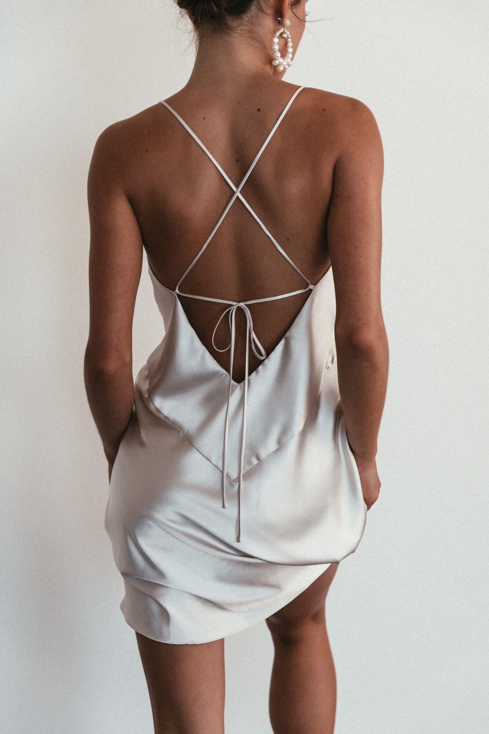 Photo of Silky Satin Mini Moonshine | Mini Dress | Grace Loves Lace