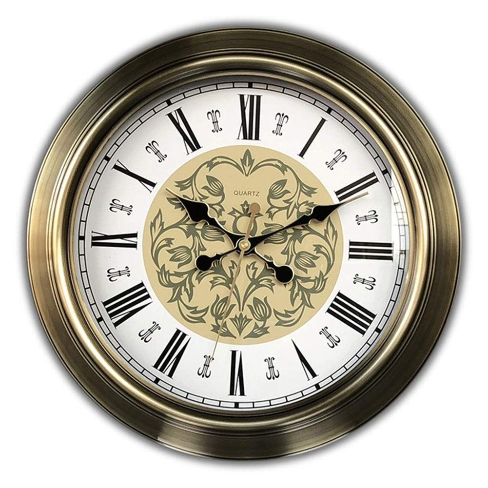fashion wall clock european style non ticking battery on wall clocks battery operated id=77165