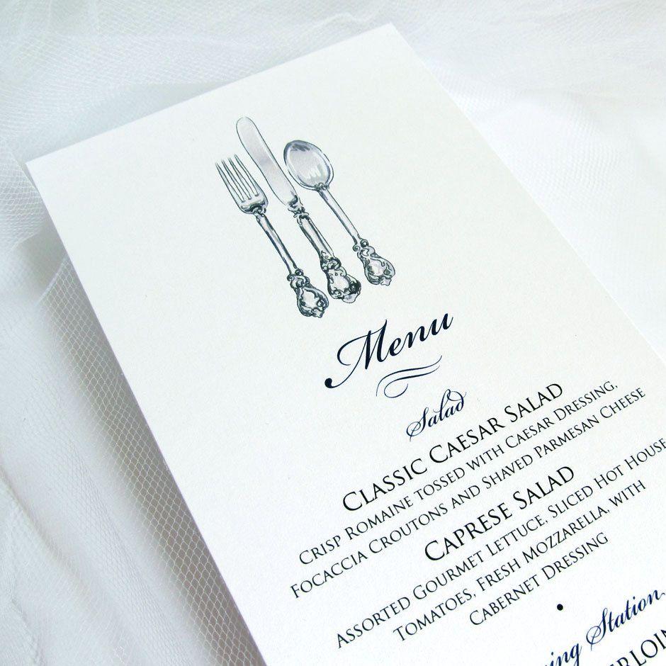 Musta-valkoinen aterimien kuva sopii loistavasti menukortteihin.
