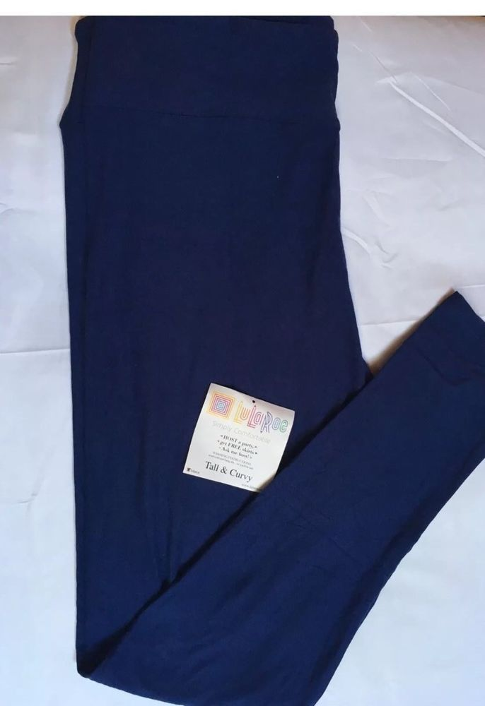 d25471ebcddaa LuLaRoe, NWT, Leggings, TC, Tall Curvy, Navy Blue, Solid Fast Shipping # LuLaRoe