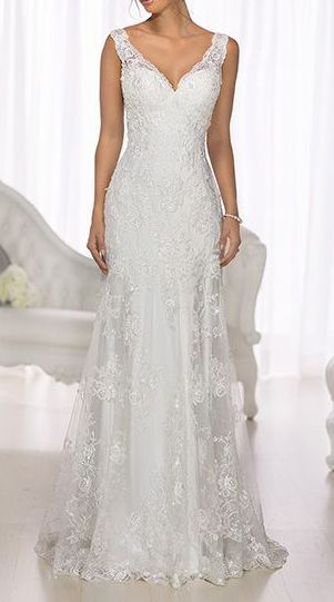 Lace Overlay Wedding Dress | If I could have my wedding all over ...