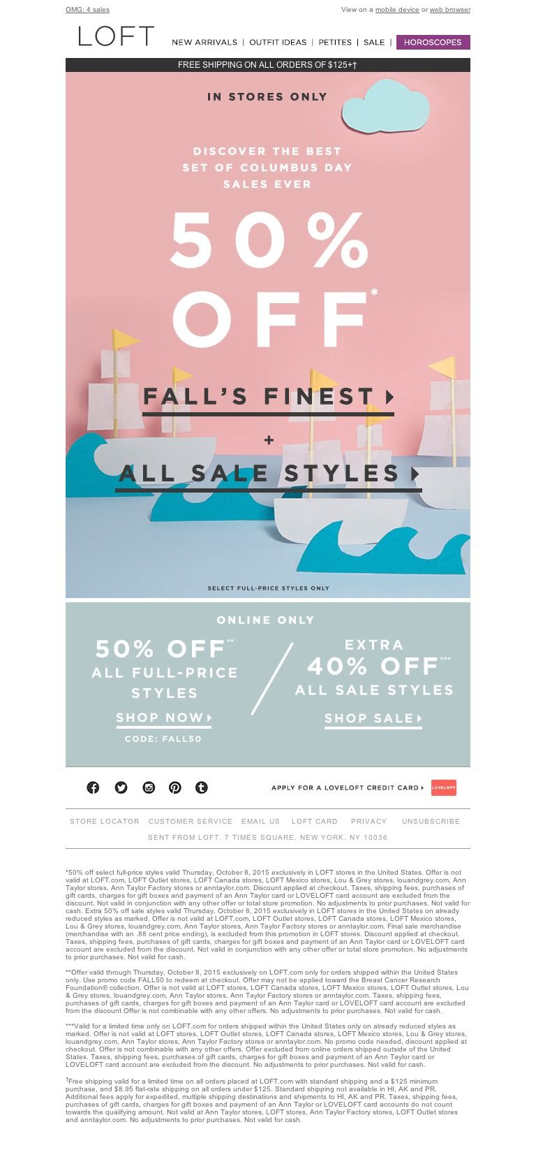 Loft So Many Sales So Much To Promotional Design Newsletter Design Event Banner