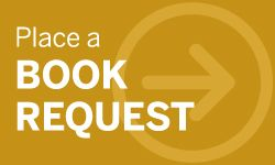 The logo for requesting books from elsewhere is gold