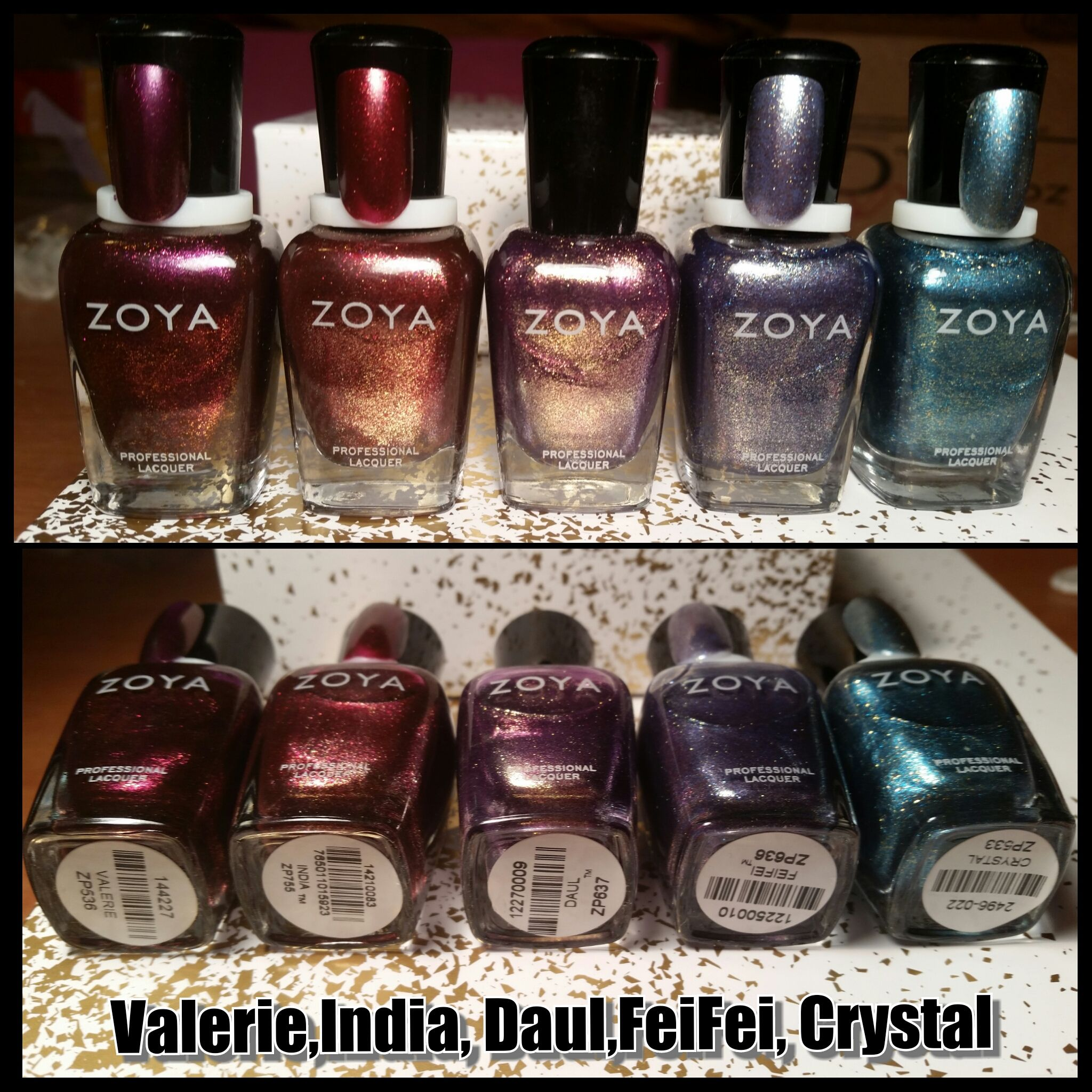 Zoyas All Swatched $5 each Valerie Sold  All SOLD