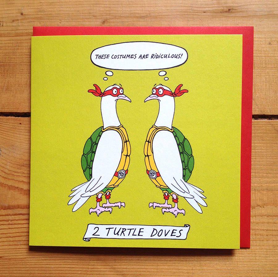 'two turtle doves' christmas cards  christmas humor