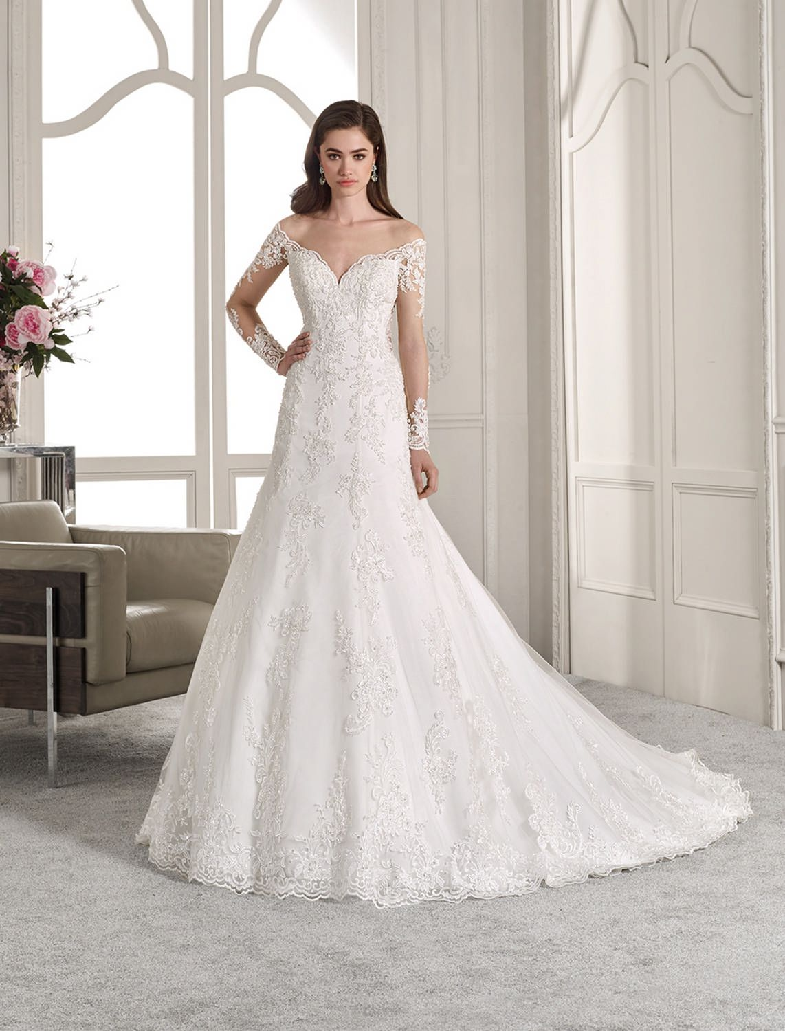 95f1087f0cc3 Demetrios - Wedding Dress Style 841   Classic meets contemporary with this  romantic off-the