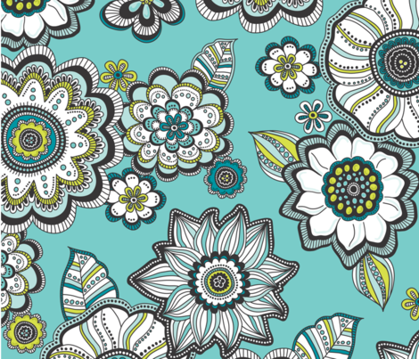 Painted_Petals fabric by anderson_lee on Spoonflower - custom fabric