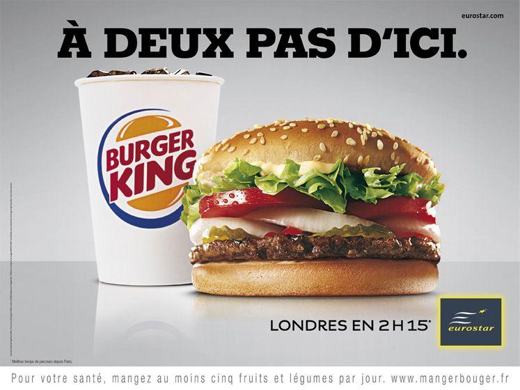 Eurostar Burger King Agence Leg Restauration Rapide Publicite