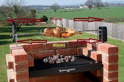 Details About Brick Bbq Rotisserie Spit Roast For Brick