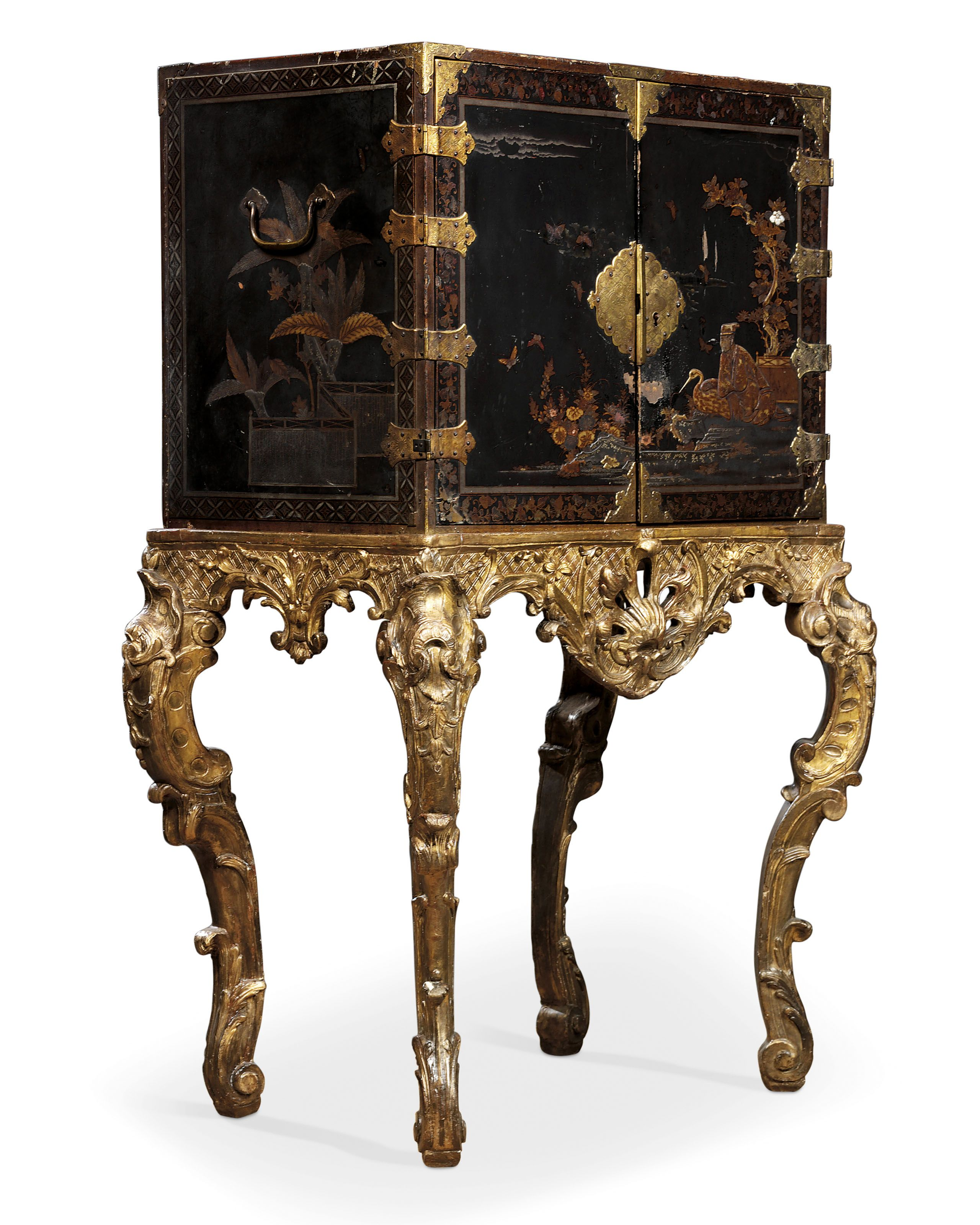 c1720 A RÉGENCE JAPANESE LACQUER AND GILTWOOD