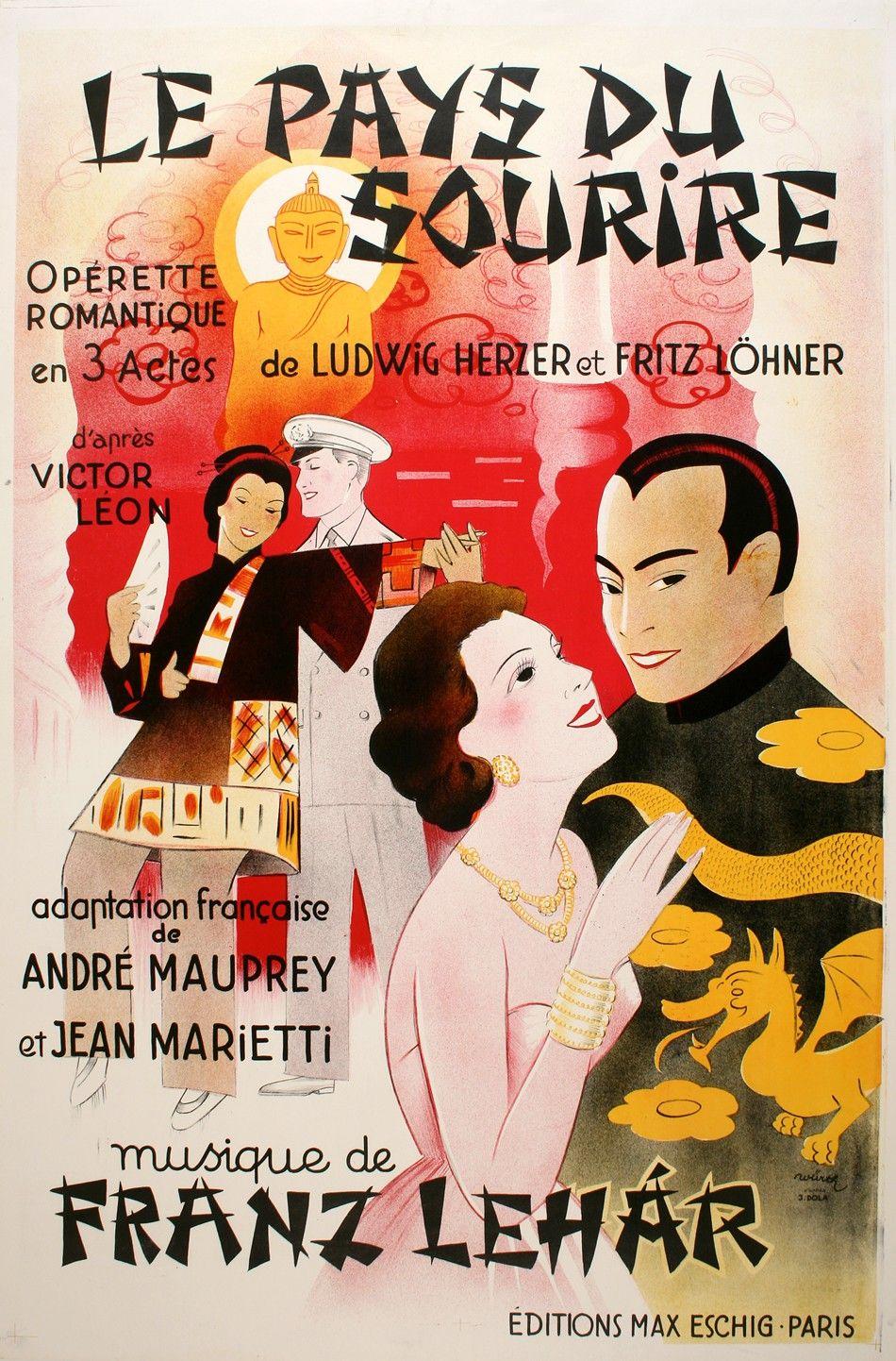 Le Pays Du Sourire Postergroup Original Vintage Posters Vintage Posters Vintage Graphic Design Poster