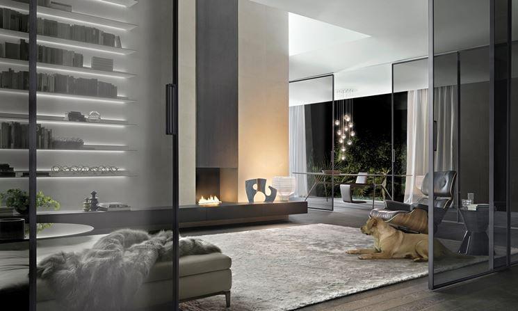 Pareti in vetro scorrevoli Velaria Rimadesio | case pareti ...