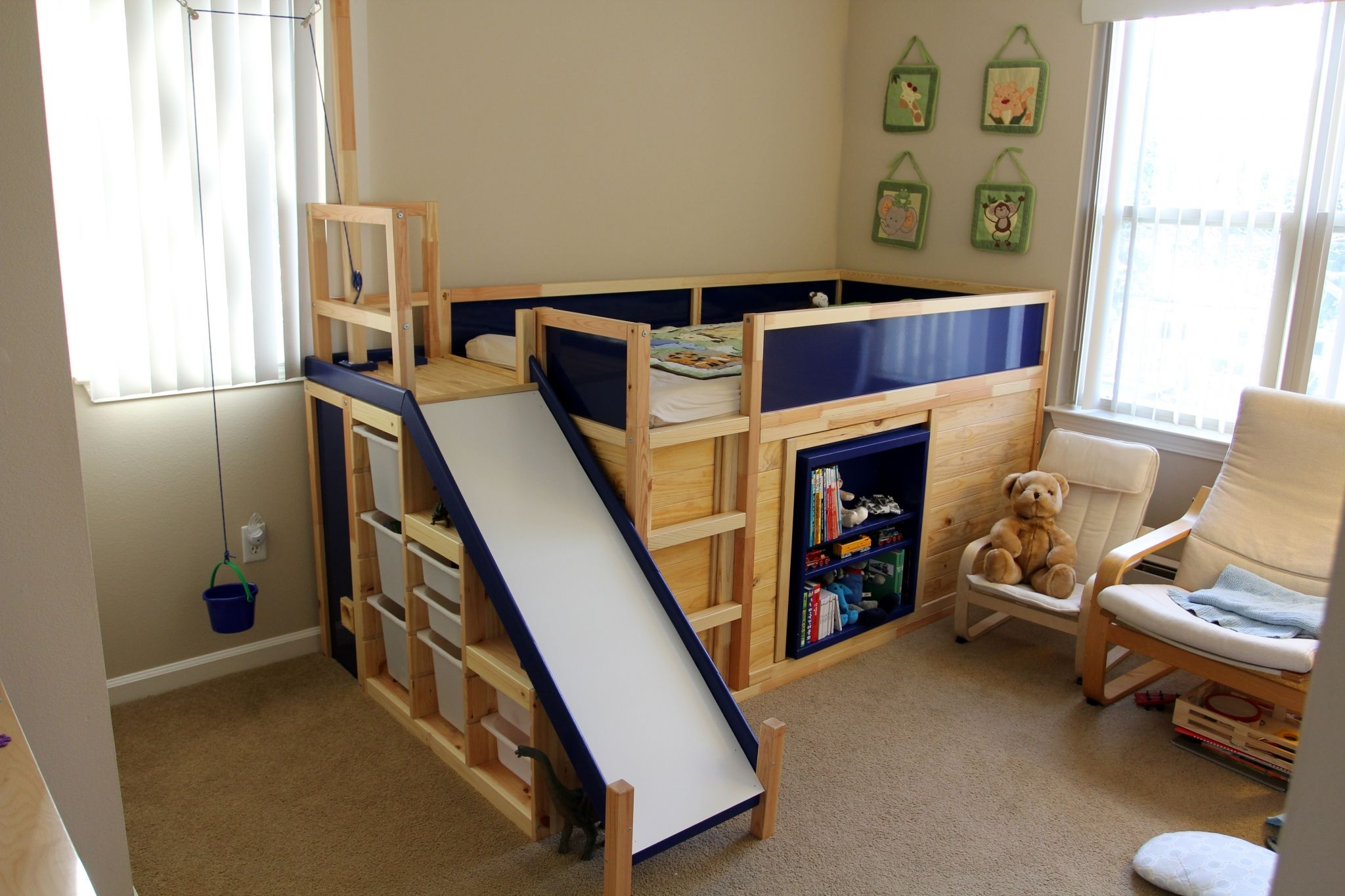 Learn How To Make An Awesome Kids Bed With Ikea Parts From A