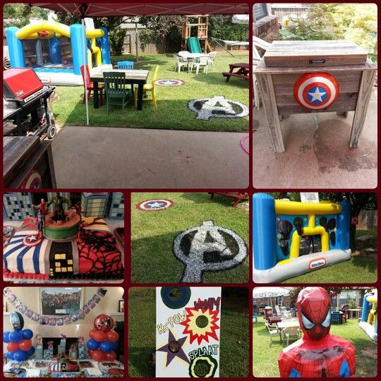 Marvel Superheroes Backyard Birthday Party. We Had A Lot