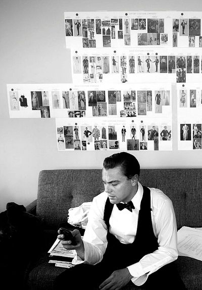 "Leonardo Dicaprio, Photographed by Baz Luhrmann on the set of ""The Great Gatsby"""