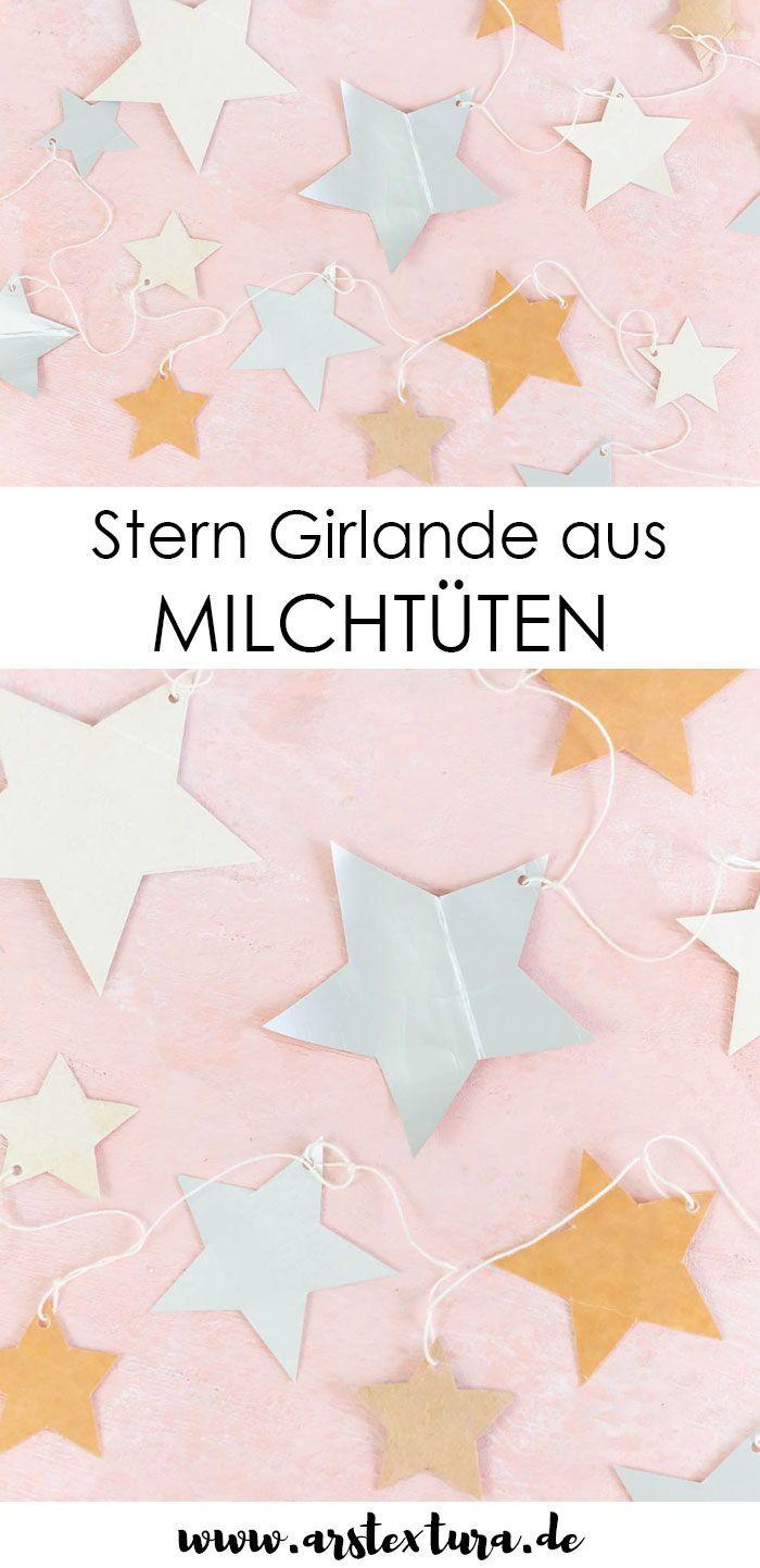 Sternchen Girlande | Upcycling Weihnachtsdeko basteln