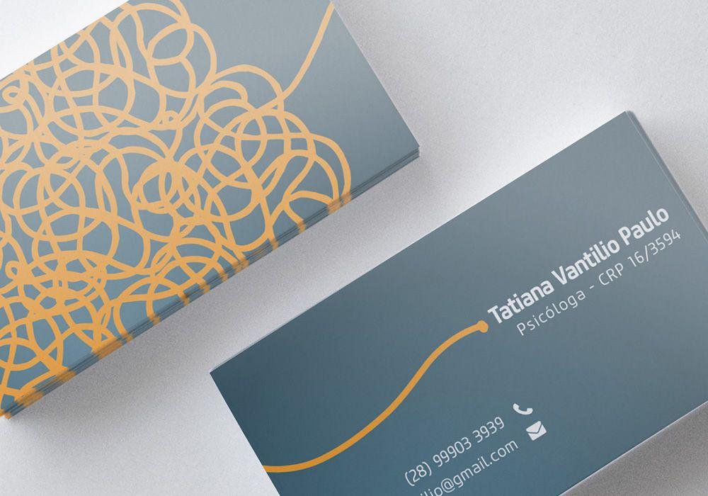 Ознакомьтесь с этим проектом @Behance: «Psychologist Business Card ...