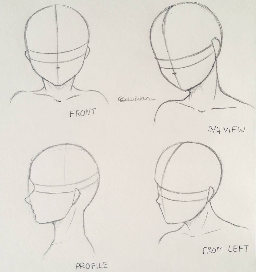 Drawing Anime Head Angles Tutorials References With