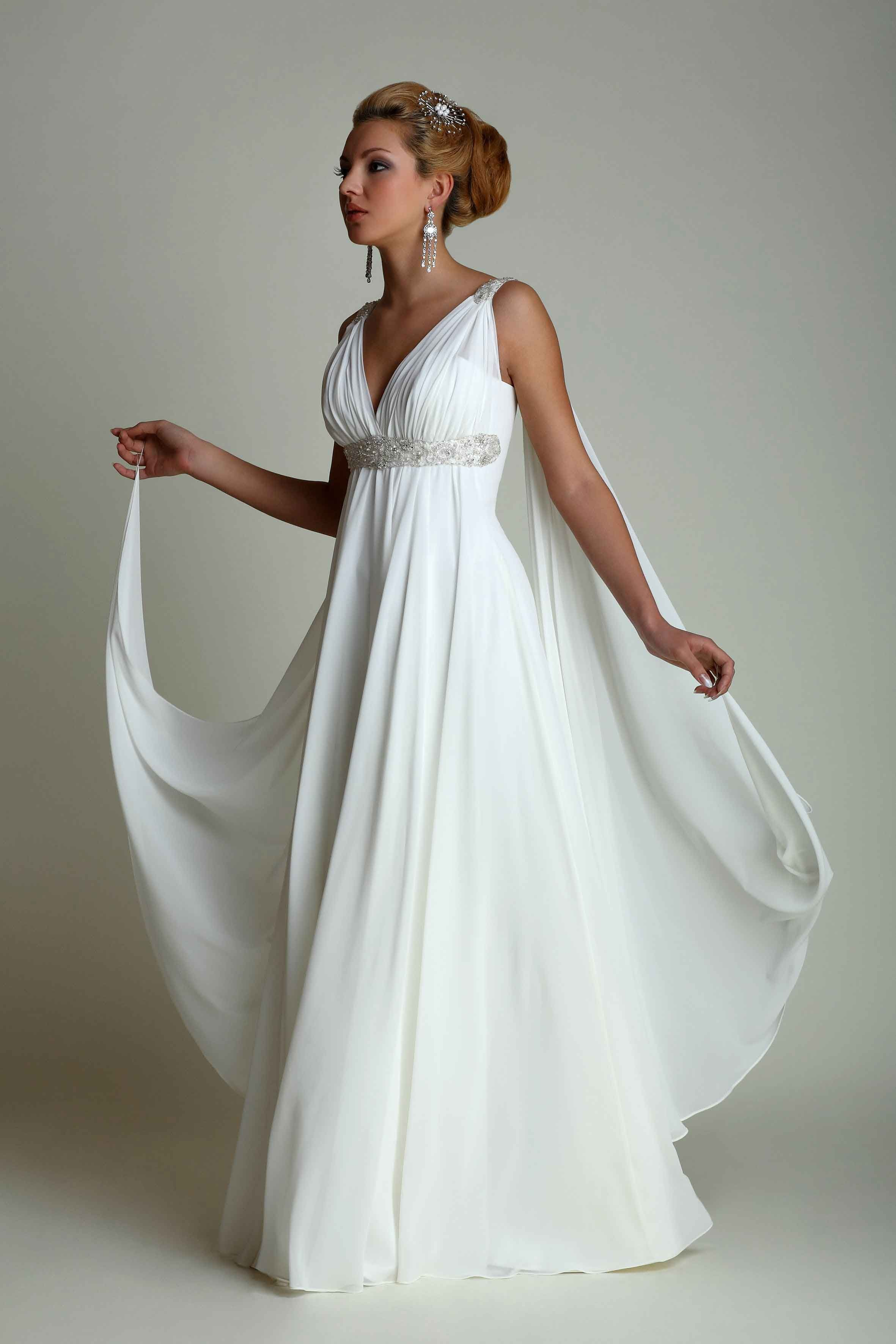 Grecian style wedding dress plus size more wedding pinterest