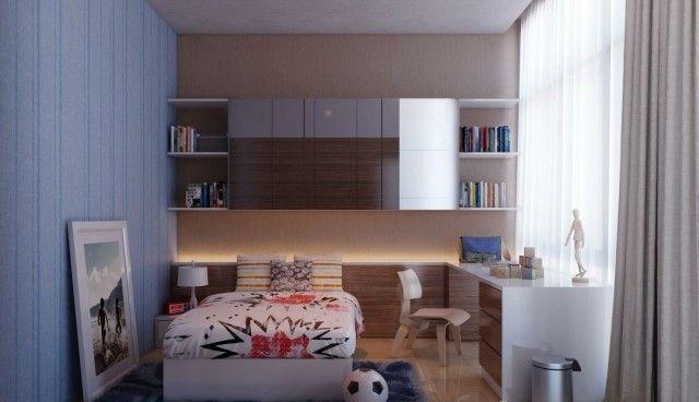 kleines teenager zimmer junge moderne einrichtung | jugendzimmer, Schlafzimmer design