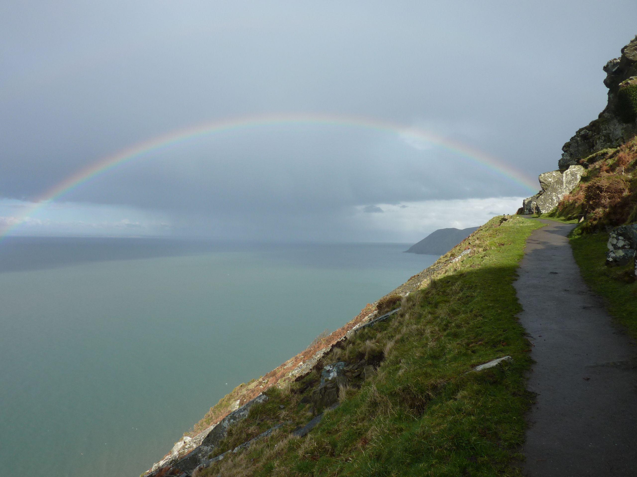 Rainbow at Lynton, North Devon UK