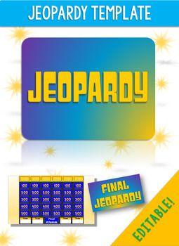 Jeopardy Game Template Jeopardy Game Template Games Tv Show Games