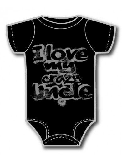 SoCal Baby Love my Crazy Uncle Onesie