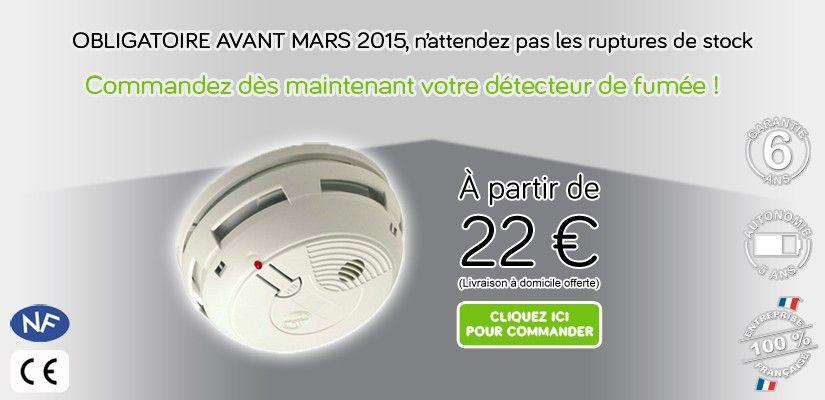 Le detecteur incendie permet d\u0027alerter les propriétaires d\u0027un logis