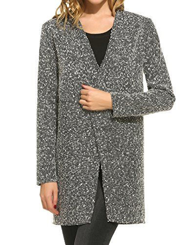 Meaneor Womens Back Lace Warm Open Cardigan Sweater Long knit Coat ...