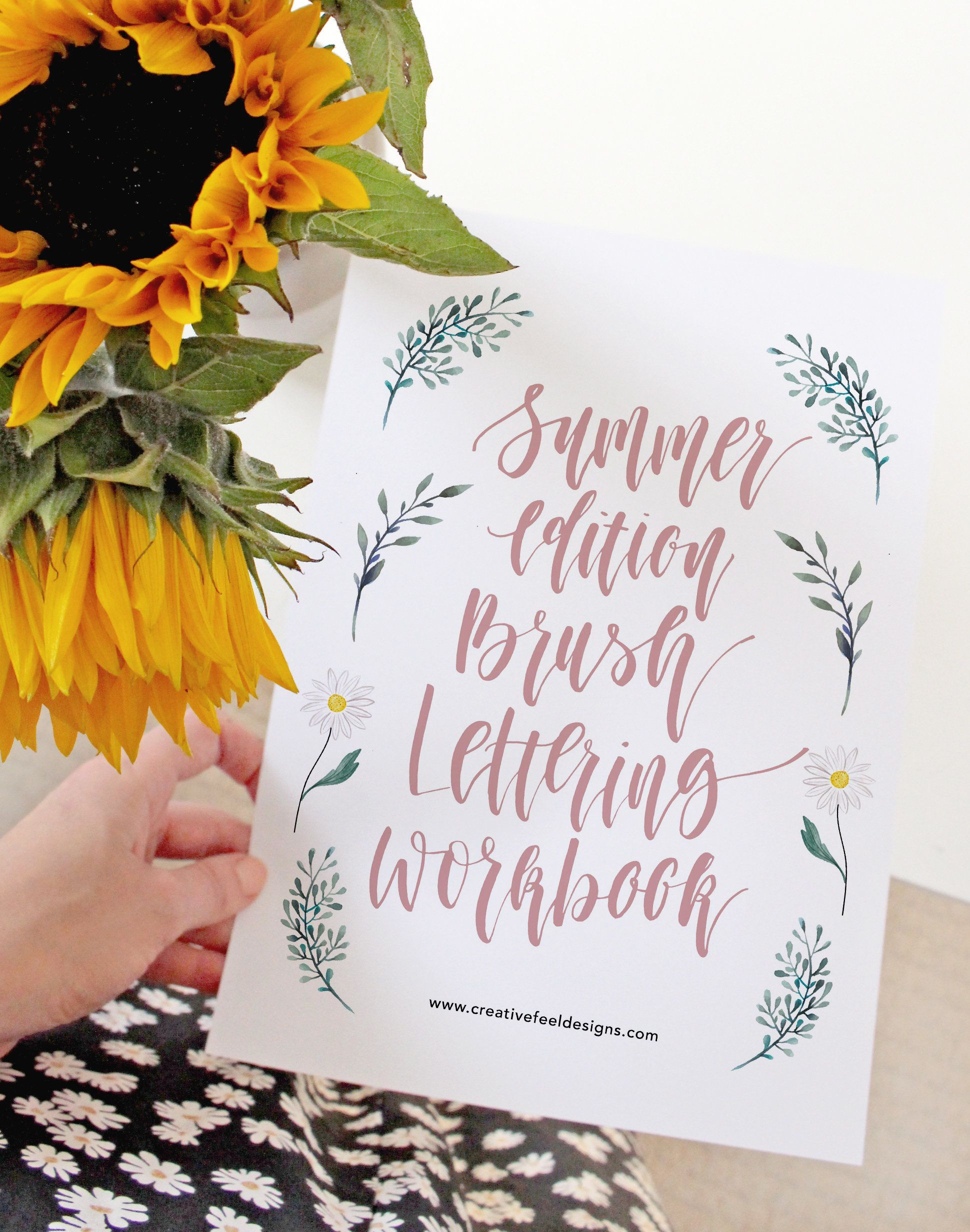 Brush Lettering Practice Sheets Summer Edition Brush