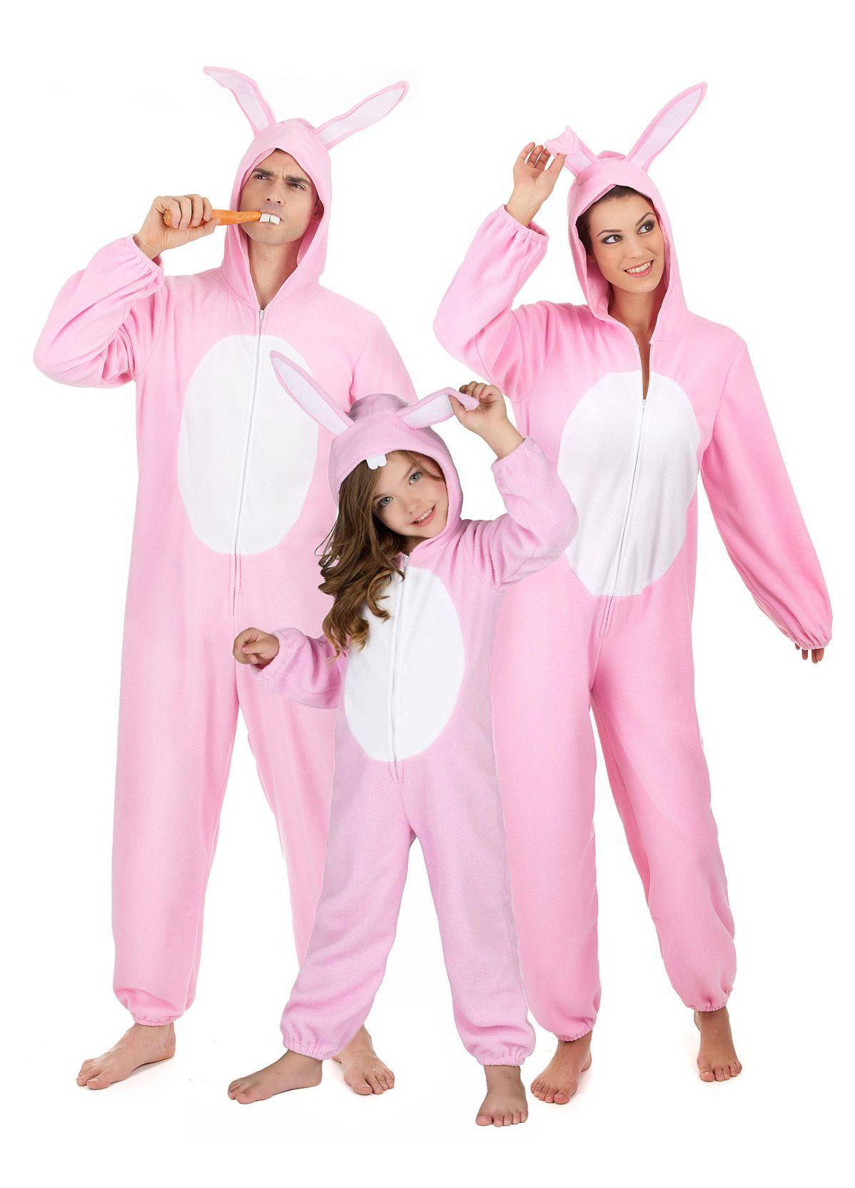 recherche d'officiel bien prix d'usine Déguisement famille lapin rose | Déguisements pour la ...