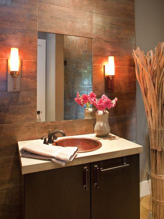 Great wall lamps on the bathroom wall wall tiles interceramic
