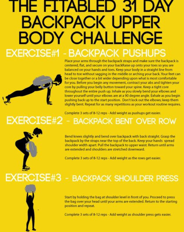 Backpack at Home Workout Challenge