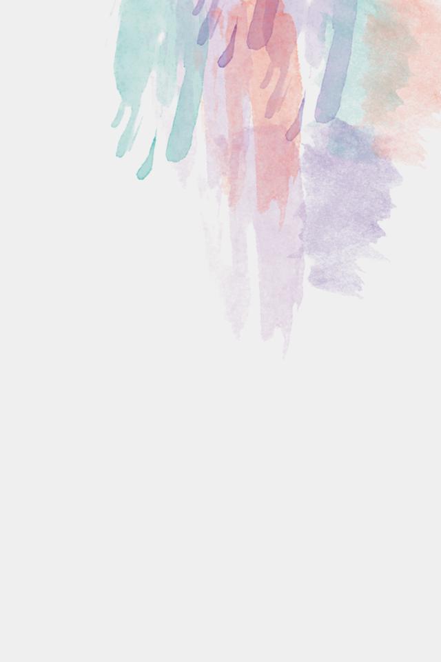 Minimal Watercolour Brushstroke Iphone Phone Wallpaper Background Lock Screen