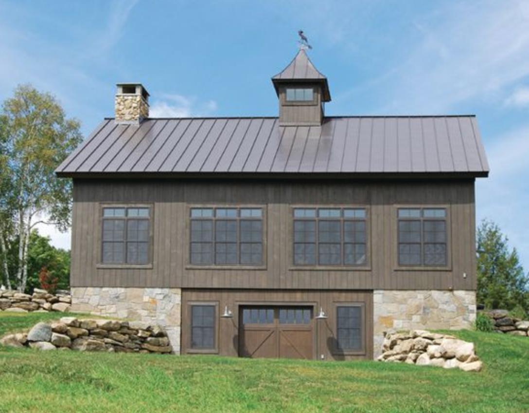 10 Striking Dark Home Exteriors New Trend | Barn house ...