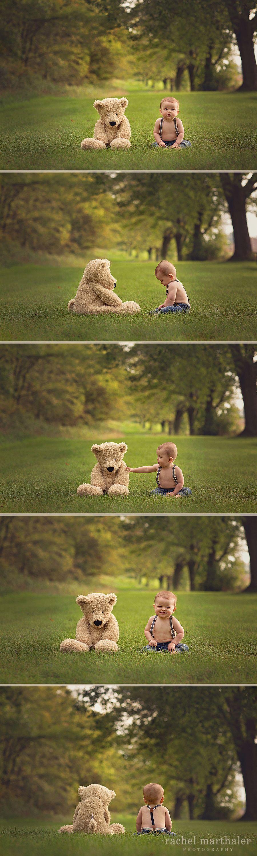Baby teddy bear photo month boy twin cities photographer rachel marthaler photography also rh ar pinterest