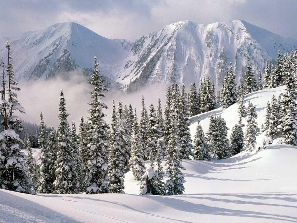 Una Montaña Nevada: Paisajes Frios: Montaña