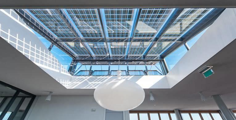 Glass Solar Panels In A Skylight Solar Panels Paneling