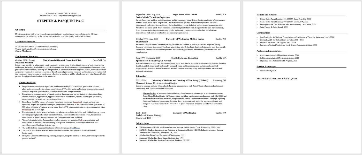 36++ Orthopedic physician assistant resume examples ideas in 2021