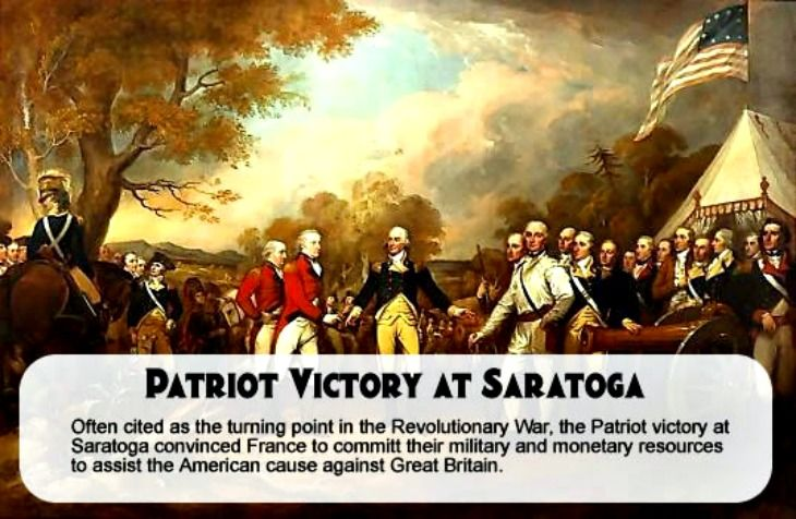 the battle of saratoga was a turning point for the patriots during the american revolution to preview our childrens history dvd click on pin