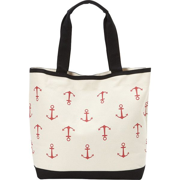 Magid Canvas Anchor  Tall Tote ($31) ❤ liked on Polyvore featuring bags, handbags, tote bags, fabric handbags, tan, white canvas tote bag, hand bags, white handbags, purse tote and canvas tote bags