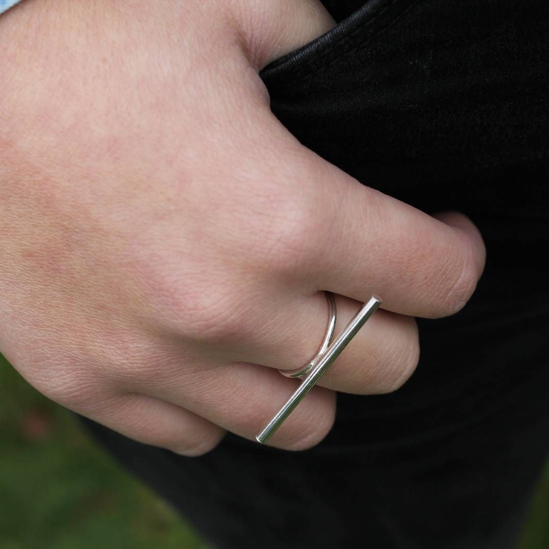 The Stick Ring is a mini Statement ring inspired by straight lines ...