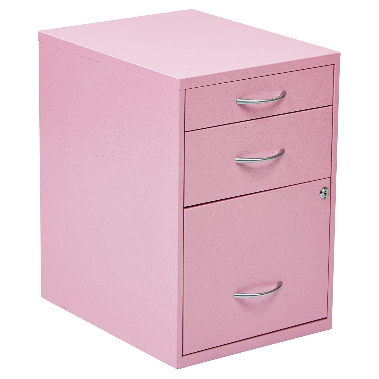 3 Drawer Vertical Metal Lockable Filing Cabinet Pink Walmart Com In 2020 Filing Cabinet Metal Filing Cabinet Steel Storage Cabinets