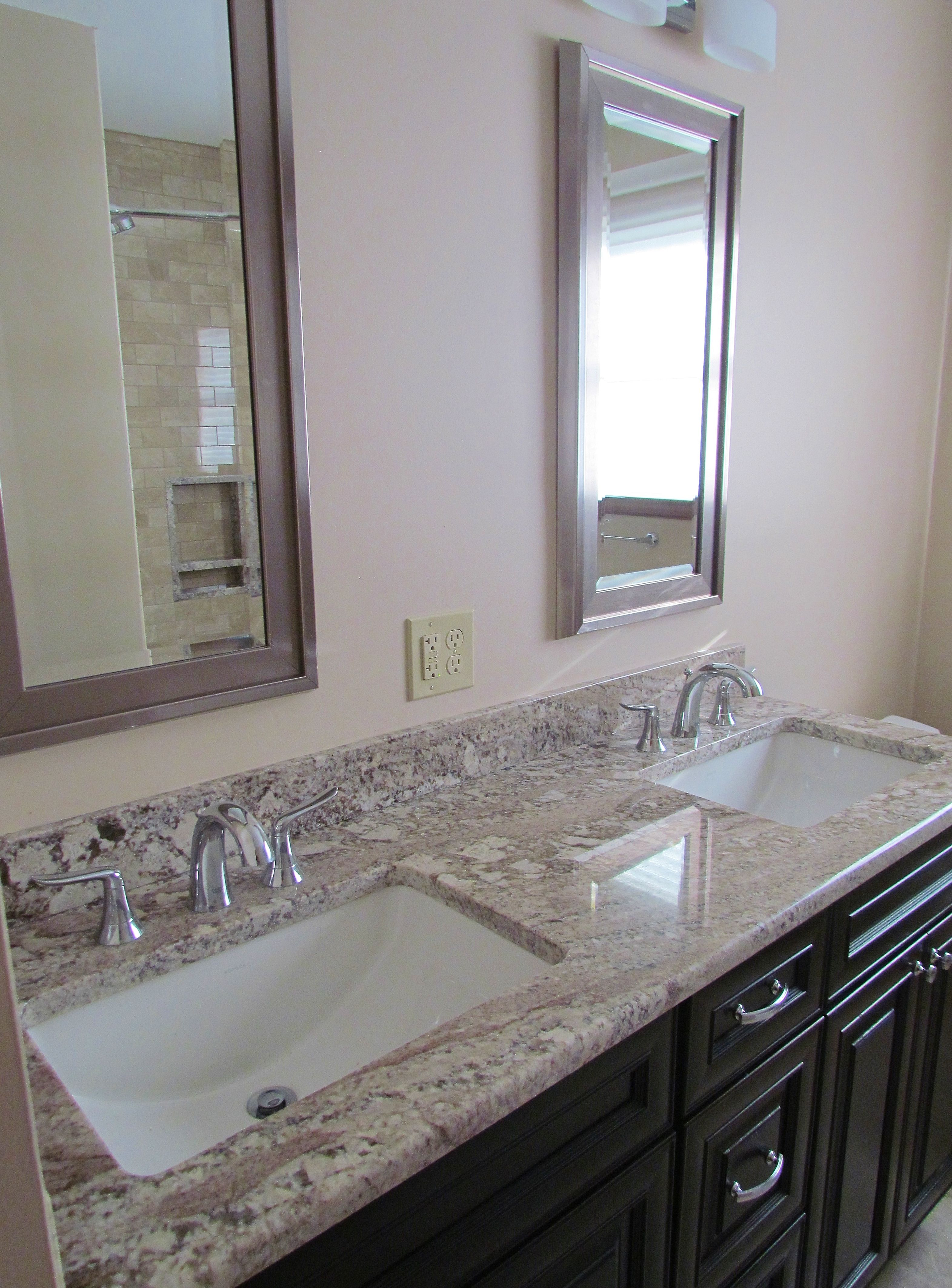 Discount Granite Countertops Nj Elegant White Granite Vanity Countertop On Dark Espresso