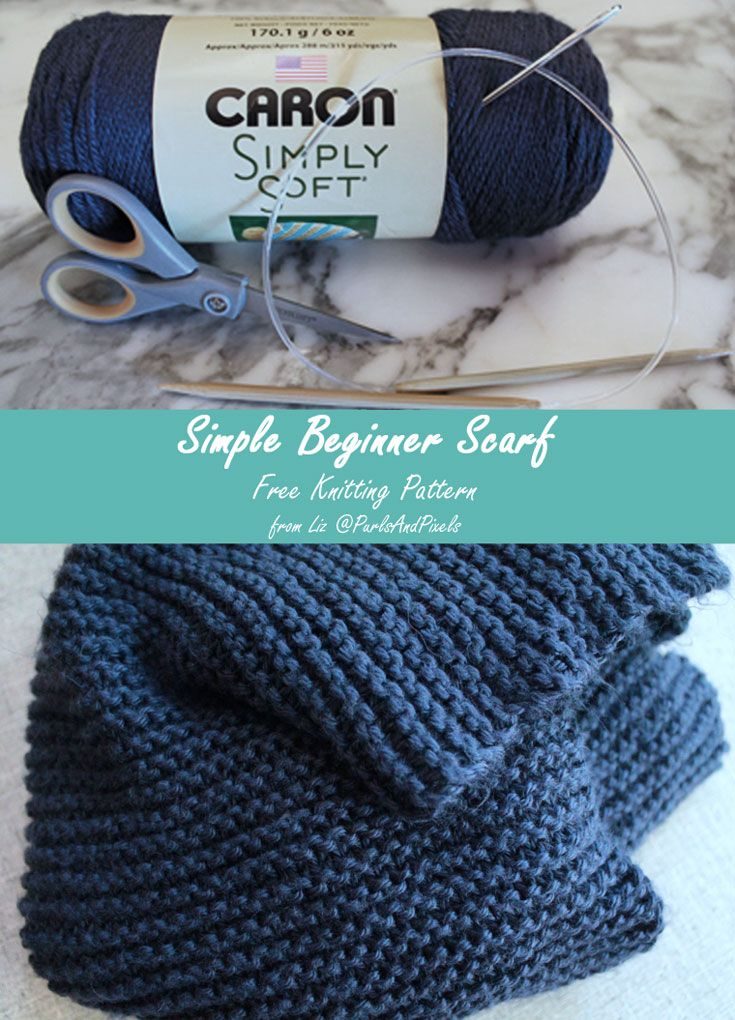 Beginner Knit Scarf Easy Free Knitting Pattern | Pinterest | Caron ...
