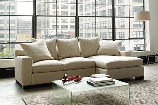 """this sofa is perfect for us. """"muse sectional chaise"""""""