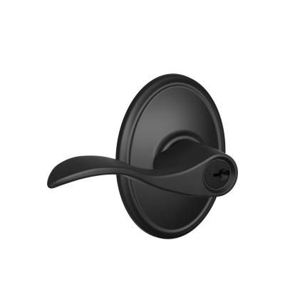 Schlage Wakefield Collection Matte Black Accent Keyed Entry Lever