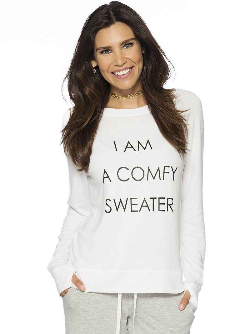 2ea0e112d30 I am a Comfy Sweater Oversized Comfy Top