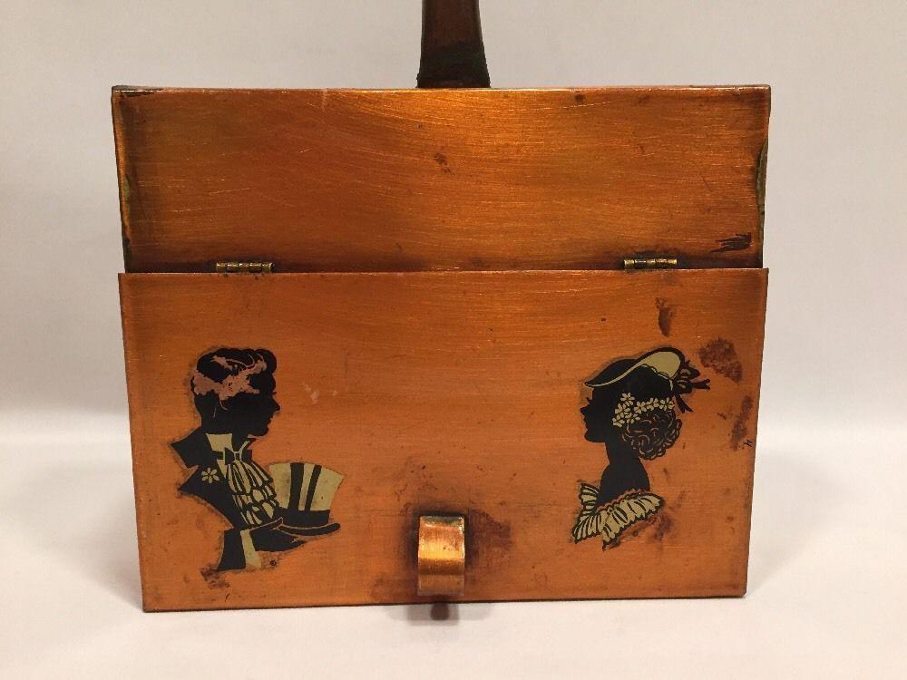 Copper Silent Butler Bread Crumb Catcher Victorian Images Key/Phone Holder